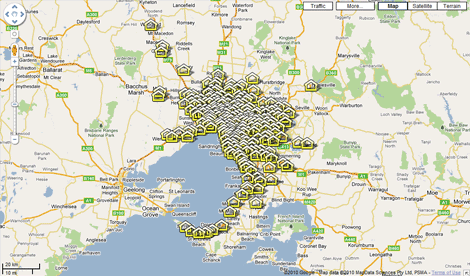 Google map house prices sep 09