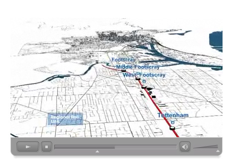 Victorian Transport Plan - Inner West animation still