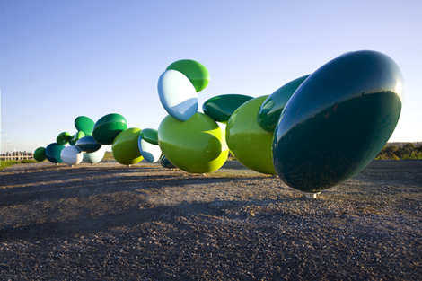 Ellipsoidal Freeway Sculpture, James Angus